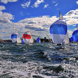 Yachts on the Harbor by Kaye Menner by Kaye Menner