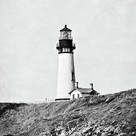Scott Pellegrin - Yaquina Head Lighthouse -BW with Texture