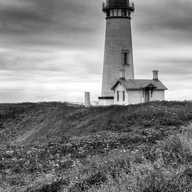 Yaquina Head Lighthouse - Monochrome by Harold Rau