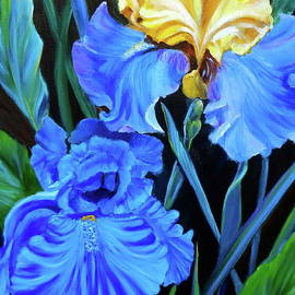 Jenny Lee - Yellow and Blue Iris