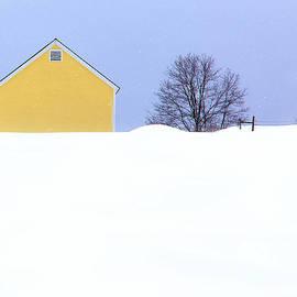 John Vose - Yellow Barn in Snow
