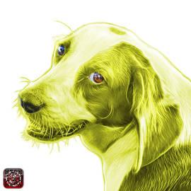 Yellow Beagle Dog Art- 6896 -wb by James Ahn
