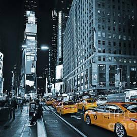 Carlos Alkmin - Yellow Broadway at Night - NYC