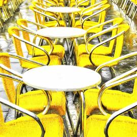 Yellow Chairs In Venice # 2 by Mel Steinhauer