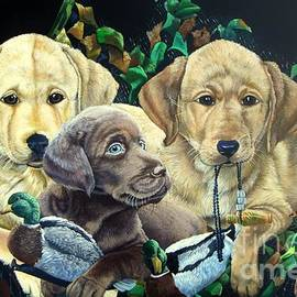 Daniel Butler - Yellow/Chocolate lab Puppies- They Made Me Do It