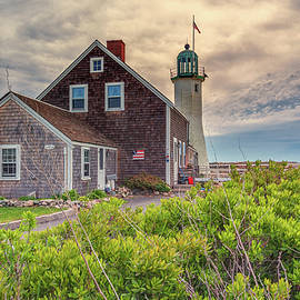 Brian MacLean - Yellow Clouds over Scituate Lighthouse