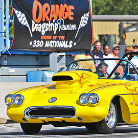 Mike Martin - Yellow Corvette Dragster