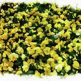 Ramon Martinez - Yellow flowers painting
