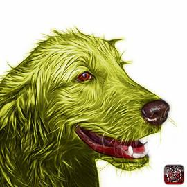 Yellow Golden Retriever Dog Art- 5421 - Wb by James Ahn
