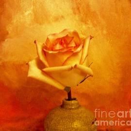 Marsha Heiken - Yellow Red Orange Tipped Rose