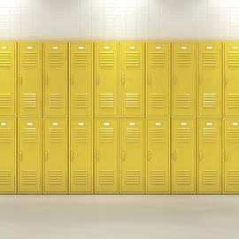 Yellow School Lockers - Allan Swart