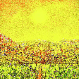 Joel Bruce Wallach - Yellow Sunlit Path - Marin California