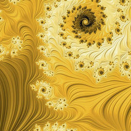 Yellow Swirls and Spirals by Elisabeth Lucas