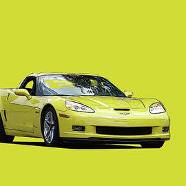 Yellow Vette by William Moore