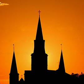 New Orleans Yellow Voltage The St. Louis Cathedral by Michael Hoard