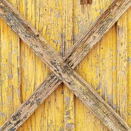 Yellow Weathered Wood by Art Block Collections