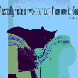 Yogi Cat Nap by Zsanan Studio