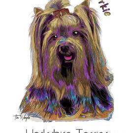 Yorkshire Terrier Pop Art by Tim Wemple