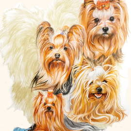 Barbara Keith - Yorkshire Terrier w/Ghost