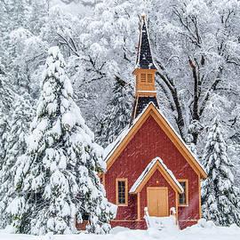 Yosemite Chapel In The Snow