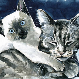 You Are Mine - Cat Painting by Dora Hathazi Mendes