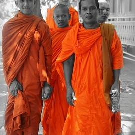 Toni Abdnour - Young Buddhist Monks In Orange Robes