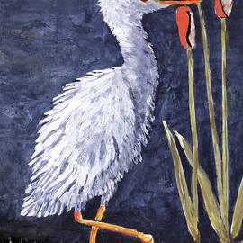 Suzanne Theis - Young Egret Takes a Walk