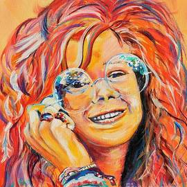 young Janis Joplin by David Keenan