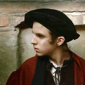 Dominique Amendola - Young man with a black hat