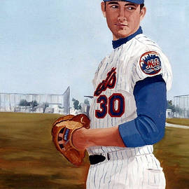 Young Nolan Ryan - With Mets by Rosario Piazza