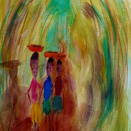 Gary Kirkpatrick - Young Woman Carry Cassava