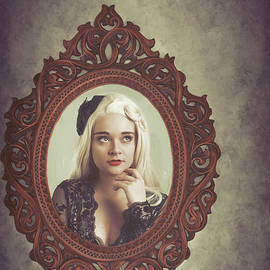 Young Woman In Mirror - Amanda Elwell