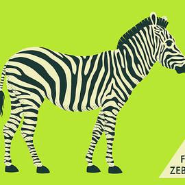 Z IS FOR ZEBRA - 2 - Jazzberry Blue