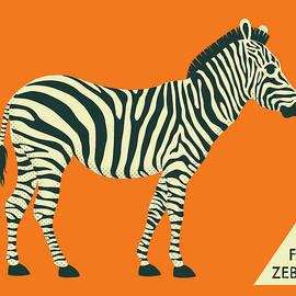 Z IS FOR ZEBRA - 3 - Jazzberry Blue