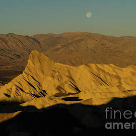 Zabriskie Sunrise and Moonset by Tracy Knauer