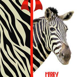 Rosalie Scanlon - Zebra Christmas Card
