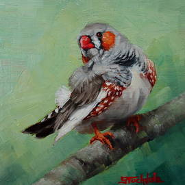 Margaret Stockdale - Zebra Finch Miniature