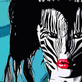 Zebra Girl Pop Art by Alicia Hollinger