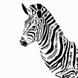 Zebra Mosaic by Saundra Myles