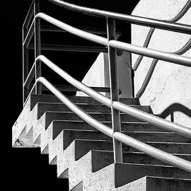 David Smith - Zig Zag Stairs San Francisco Black and White