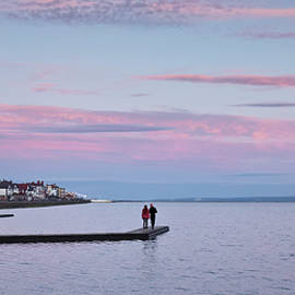 A Marine Lake at Sunset, West Kirby, England, UK by Derrick Neill