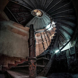 Abandoned Staircase  by Jaroslaw Blaminsky