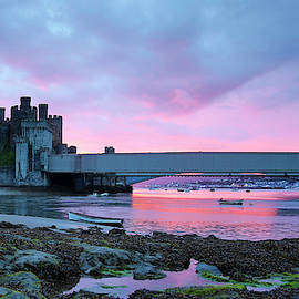 An Evening at Conwy Castle in Wales by Derrick Neill