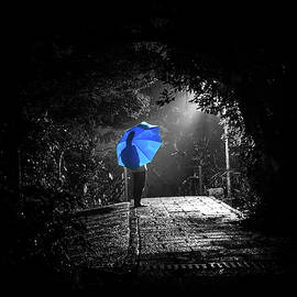 Blue Umbrella by Frederik Morbe