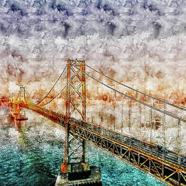 Bridge watercolor drawing  by Hasan Ahmed