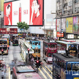 Causeway Bay Rush In Hong Kong by Didier Marti