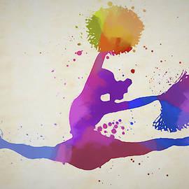 Cheerleader Paint Splatter by Dan Sproul