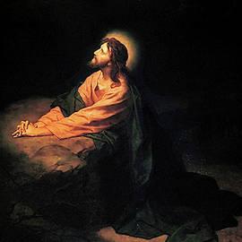 Christ In Gethsemane  by Heinrich Hofmann