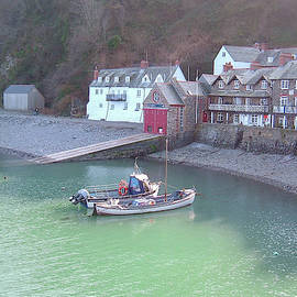 Clovelly Harbour North Devon by Richard Brookes
