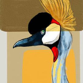 Crowned Crane by Michael Kallstrom